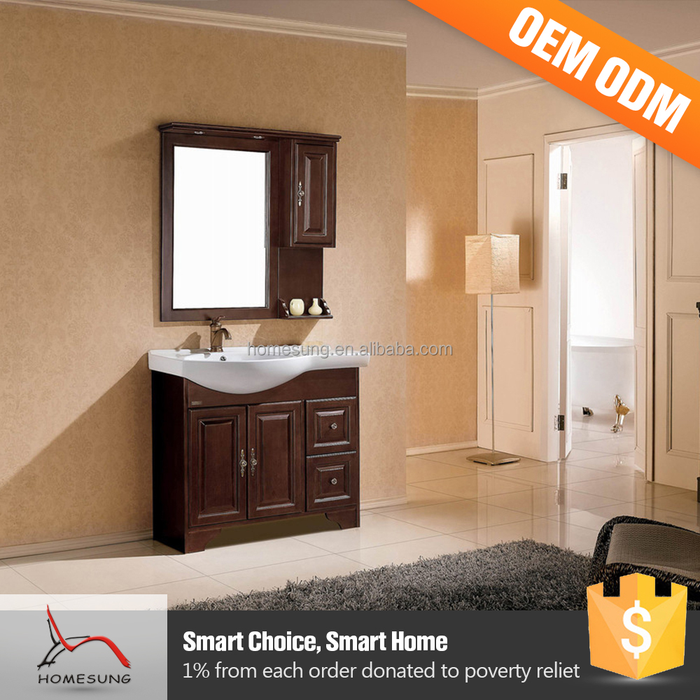 European Style Solid Wood 24 Inch Bathroom Vanity