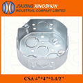 "2014 HOT 4"" Octagonal Galvanized Steel electrical standard Junction box"