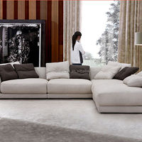 High Quality Graceful Linen Fabric Sofa