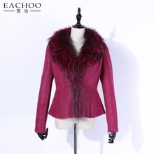 Shearling Top Quality Curly Lamb Fur Coat Sheep Fur Jacket Women