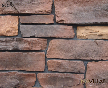 Manufactured stone veneer wall cladding design 50170