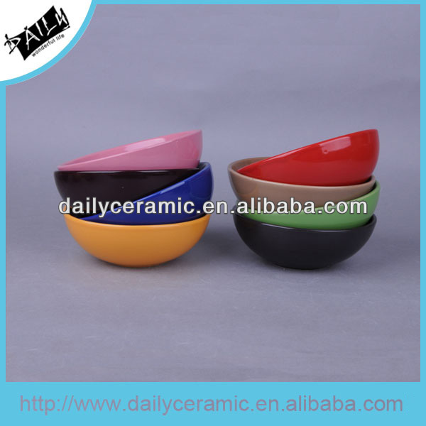 colourful glaze ceramic salad bowl for gift
