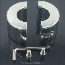New Design Stainless Steel Male Chastity Device Ball Stretcher Men Penis Extender Restraint Ball Cock Ring