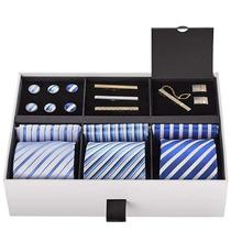 white and blue neek <strong>tie</strong> for men <strong>tie</strong> gift set