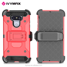 IVYMX new design ultra protective mobile phone accessories belt clip case for LG G6