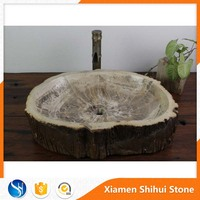 Unique Antique top mount granite wooden wash basin