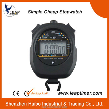 Single row of large-screen electronic display manual timer stopwatch