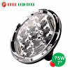Round 4x4 jeep accessories 12v 24v 7 inch led headlight, hot 7 inch 75w led head light