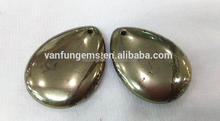 Pyrite loose gemstone in pear shape 1222