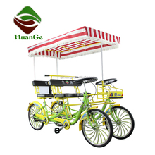 New style 4 seater quadricycle 4 people surrey bike 4 person tandem bicycle 4 wheels bike for 4 person