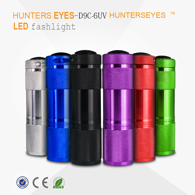 2017 Factory Wholesale 9 LED UV Flashlight 395nm Wavelength Best pet urine detector UltraViolet flashlight OEM <strong>Service</strong>