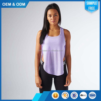 Custom Slim Fitness Elaborate Glamorous Sexy Women Gym Vest