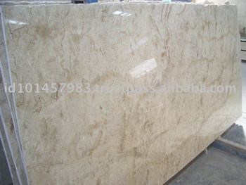 Indonesian Polished Cream Marble Slab