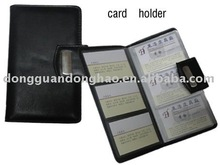 PVC cover clear plastic folding card holder id card holder with large capacity