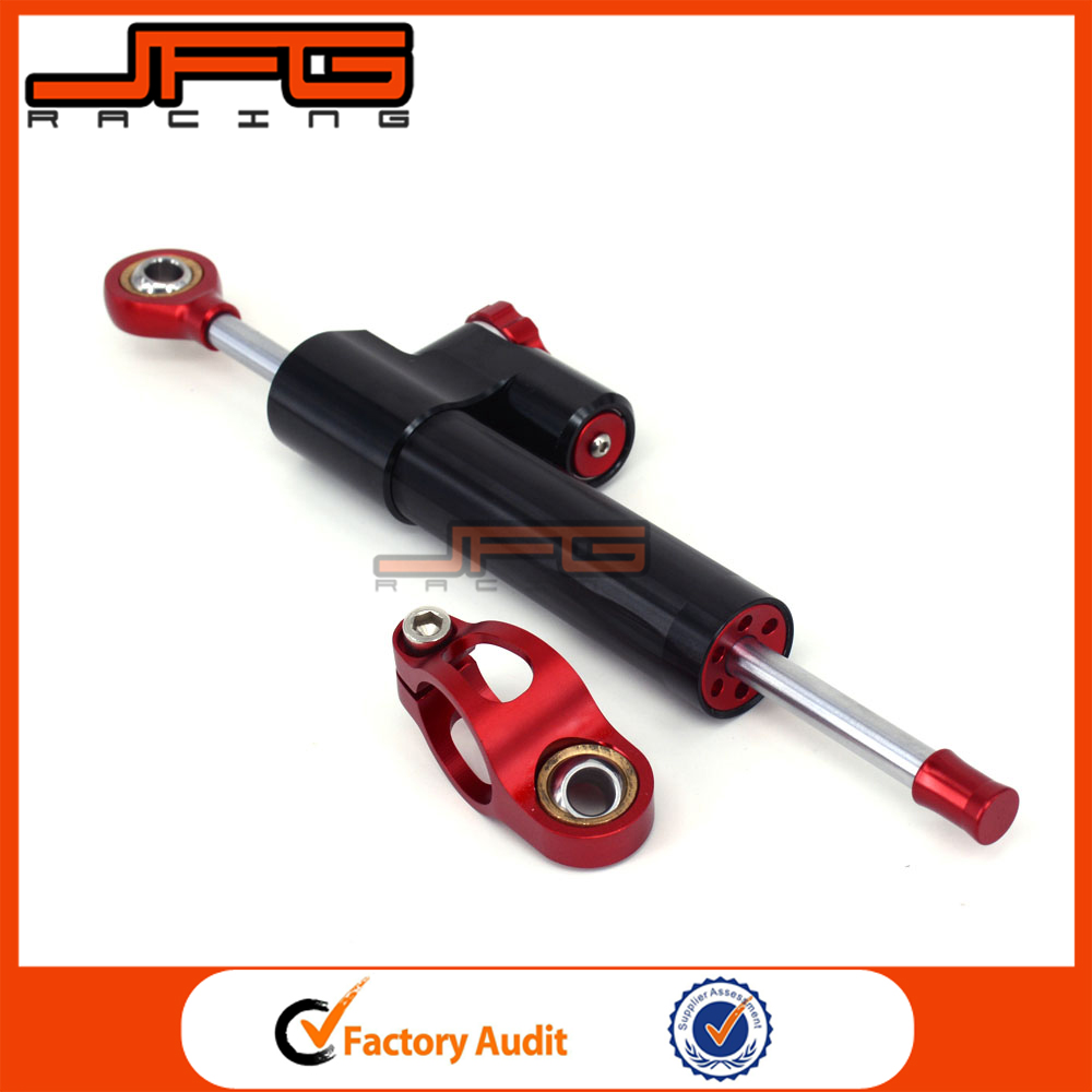 Universal Stabilizer Linear Reversed Safety Control CNC Motorcycle Steering Damper for Honda CB650F Dirt Bike Parts