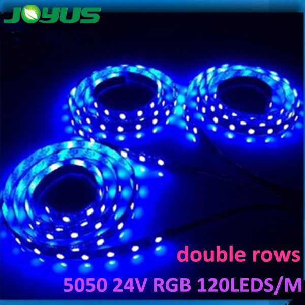 new flexible 5050 rgb led strip 12v 24v 120leds/<strong>m</strong> double row white color
