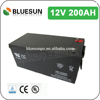 Bluesun agm marine batteries 12v 200ah with ISO CE ROHS UL Certificate