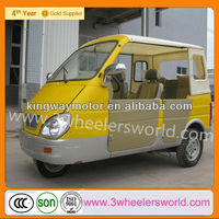 China Supplier Passenger Taxi With Side Doors / Closed Cabin Passenger Tricycle For Sale
