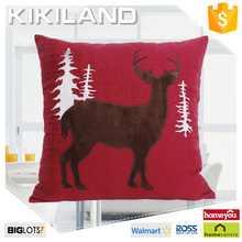 fake linen embroidery deer design for baby pillow case