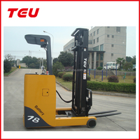 electric reach fork lift truck