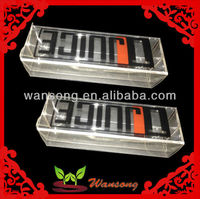 Environment friendly transparent plastics box
