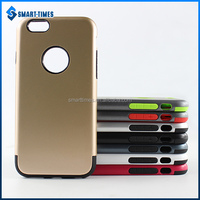 [Smart Times]2016 PC TPU Back Cover With Single Color Design Hot For Iphone 6 Case