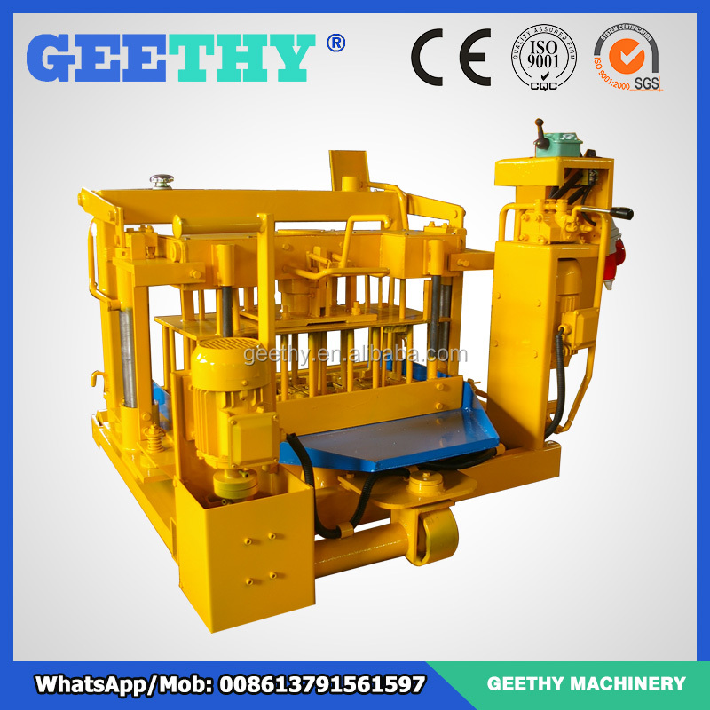 profitable projects brick mini plant QMY4-30A portable brick machine fly ash brick project