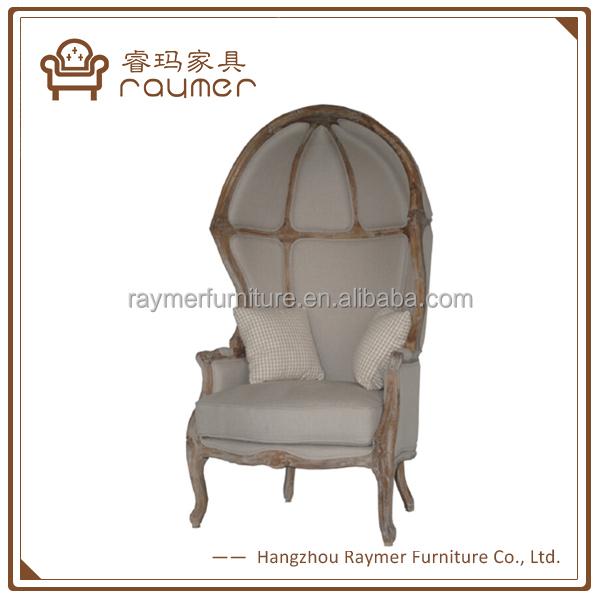 Vintage French Balloon Chair Linen Fabric Wooden Frame Egg Chair   Buy Egg  Chair,Ballon Chair,French Ballon Chiar Product On Alibaba.com