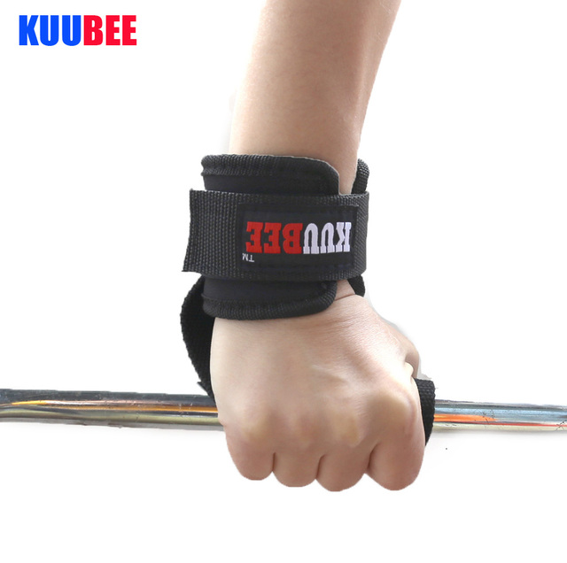 Retail 1 pair Weight Lifting help Gloves Chin Up Supporters Grip Barbell Pads Straps with Wrist Support