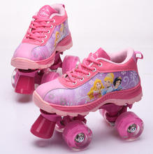 new design quad roller skating shoes 4 wheels speed running roller shoes for kids