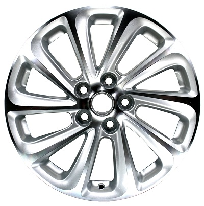 popular design 18 inch wheel universal silver low pressure via jwl auto parts alloy wheel