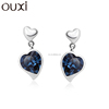 OUXI 2015 Christmas Gift Earrings Silver