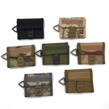 Wholesale Outdoor Multi functional Card <strong>Wallet</strong>, Fabric Tactical ID Card Holder With Key Holder