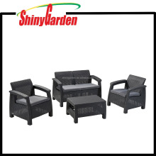 All Weather Outdoor Patio Garden Furniture 4 Piece Sofa Set
