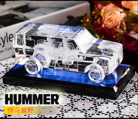 upscale crystal car model furnishing articles Interior decoration gifts