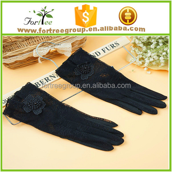 summer lady driving lace jacquard cotton gloves