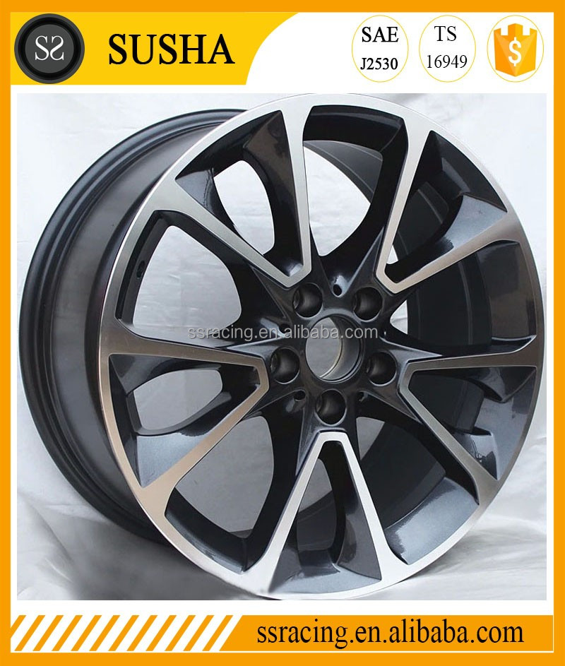 "SS Wheel Supply 19""black/sliver machine face replica aluminum alloy wheels for 2014-X5"