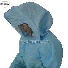 Radiation protection:disposable hood with eye shield
