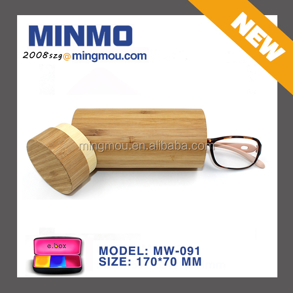 BAMBOO reading glasses case, ROUND wood glasses case, wooden personalized glasses case