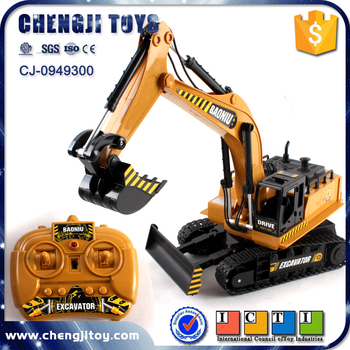 8 channel truck electric vehicle for kids rc excavator caterpillar