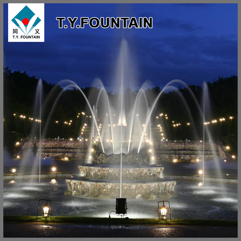 Flower shape Plaza water fountain