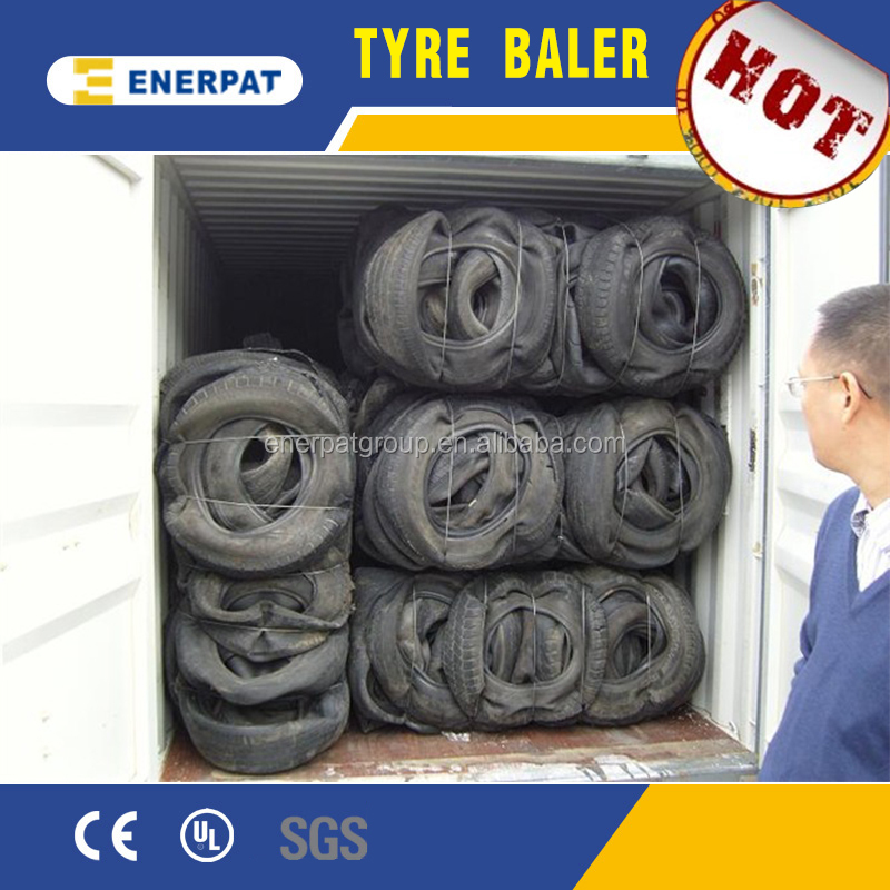 Hydraulic Used tyre/Truck tire/Car tire baler