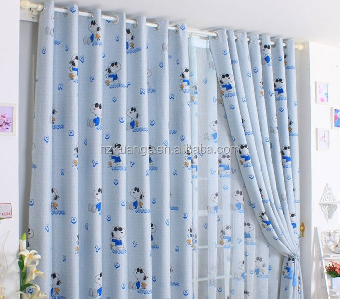 very cheap kids cartoon curtains printed fabrics