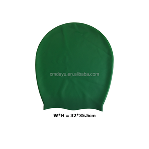 custom printable XL silicone swimming cap for long hair or dreadlocks