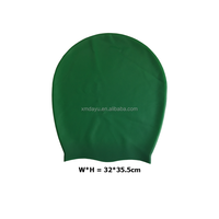 printable silicone swimming caps for long hair or dreadlock