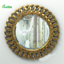 round antique decorative sun shaped wall framed mirror