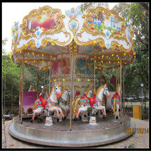 Hot selling 16 seats amusement equipment outdoor carousel horse sale