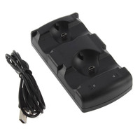 Dual USB Charger Controller Powered charging Dock Dual Charger for PlayStation 3 for PS3 Controller and Move Navigation