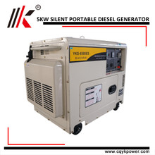 Silent Diesel Genset with Single/Three Phase 5kw Dynamo Prices