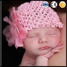 latest version Baby Hat Knitting Baby Christmas Hat Child Baby Girls Floral Bow Knot Headband Hat Cap HA-1157